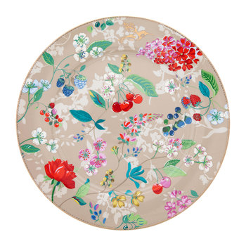Floral 2.0 Hummingbird Serving Plate - Khaki
