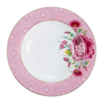 Rose Soup Plate - Pink