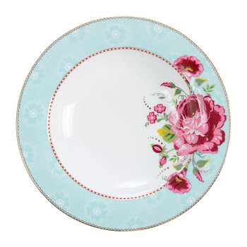 Rose Soup Plate - Blue