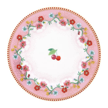 Cherry Side Plate - Pink
