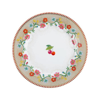 Cherry Side Plate - Khaki