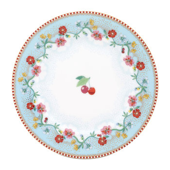 Floral 2.0 Cherry Side Plate - Blue