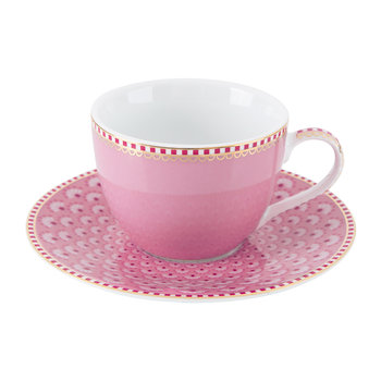 Espresso Cup & Saucer - Set of 4 - Pink