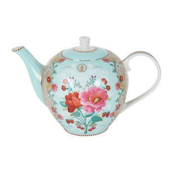 Rose Teapot - Blue