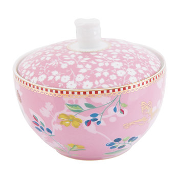Hummingbird Sugar Bowl - Pink