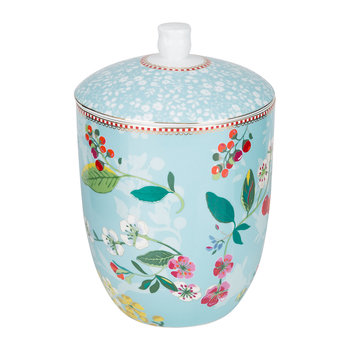 Floral 2.0 Hummingbird Storage Jar - Blue