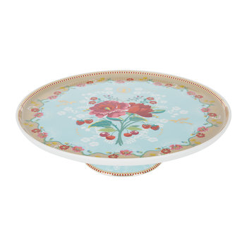 Rose Cake Stand - Blue