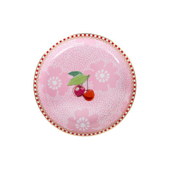 Dotted Flower Tea Tip - Pink