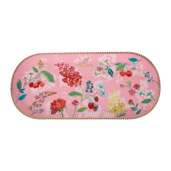Hummingbird Rectangular Cake Tray - Pink