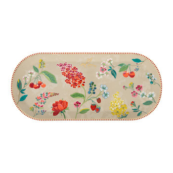 Hummingbird Rectangular Cake Tray - Khaki