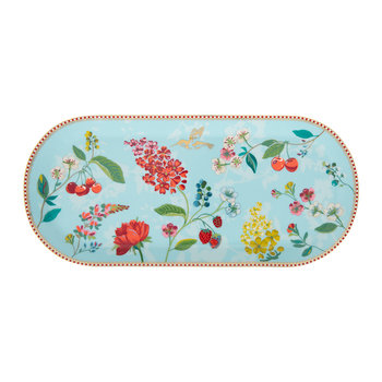 Hummingbird Rectangular Cake Tray - Blue
