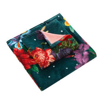 Dark Floral Towel - Set of 2 - Hand & Guest