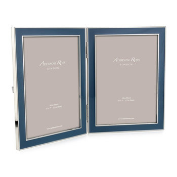 "Double Enamel Photo Frame - 5x7"" - Denim"