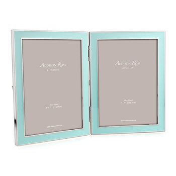 "Double Enamel Photo Frame - 5x7"" - Blue"