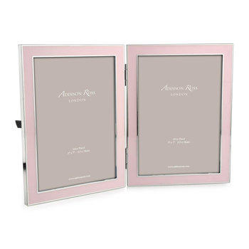 "Double Enamel Photo Frame - 5x7"" - Pink"