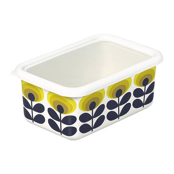 70s Oval Flower Storage Container - Medium - Yellow