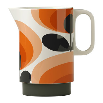 Pitcher - 70s Orange Oval Flower