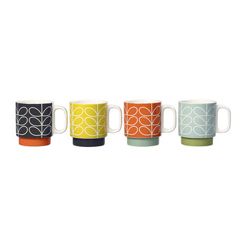Mugs Empilables Linear Stem - Lot de 4