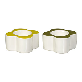 Flower Egg Cups - Set of 2 - Old Seagrass & Sunshine