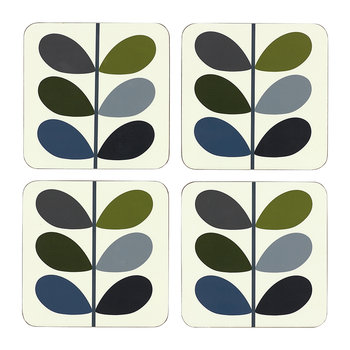 Multi Stem Coasters - Marine Khaki - Set of 4