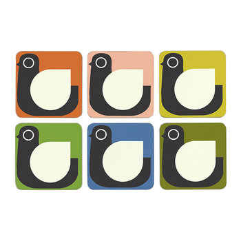 Assorted Hen Coasters - Set of 6