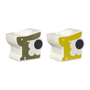 Bonny Bunny Egg Cups - Set of 2 - Old Seagrass & Sunshine