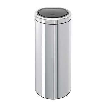 Flat Top Touch Bin - 30 Litres - Brilliant Steel