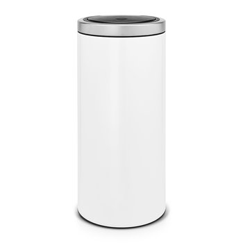 Flat Top Touch Bin - 30 Litres - White