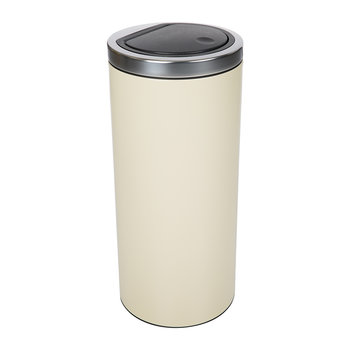 Flat Top Touch Bin - 30 Litres - Almond