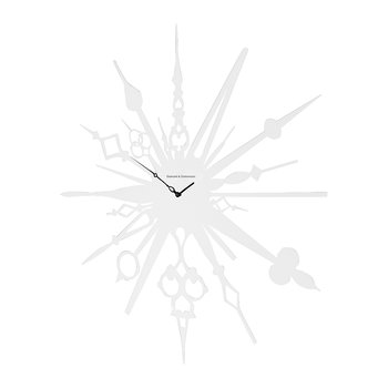 Millelancette Wall Clock - White
