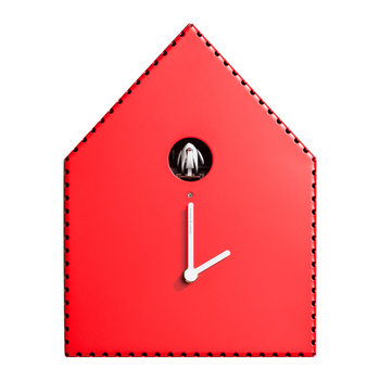 Puntinipuntini Wall Clock - Red