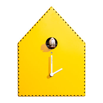 Puntinipuntini Wall Clock - Yellow