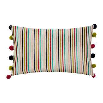 Quintessence Pom Pom Pillow - 50x30cm - Multi
