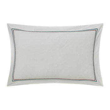Quintessence Embroidered Pillowcase - Oxford
