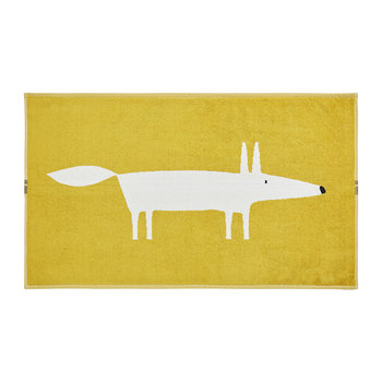 Mr Fox Bath Mat - Mustard