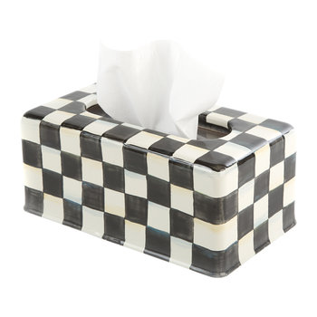 Courtly Check Tissue Box Cover - Long