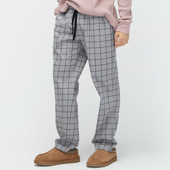Men's Flynn Check Lounge Trousers - Seal