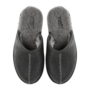 Men's Scuff Deco Slippers - Black