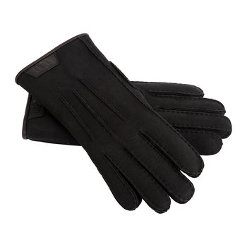 Men's Casual Glove with Leather Logo - Black