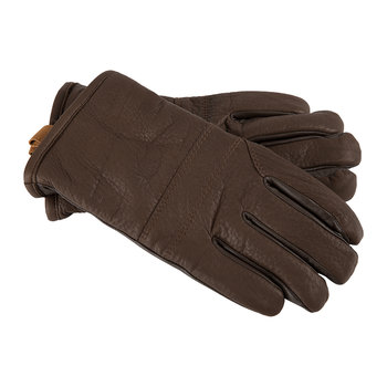 Men's Casual Leather Gloves with Pull Tab - Cordovan