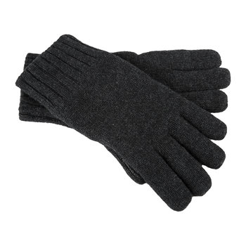Men's Knit Gloves with Leather Palm - Graphite Heather