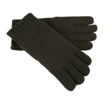 Men's Knit Gloves with Leather Palm - Spruce