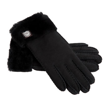 Women's Classic Sheepskin Turn Cuff Glove - Black