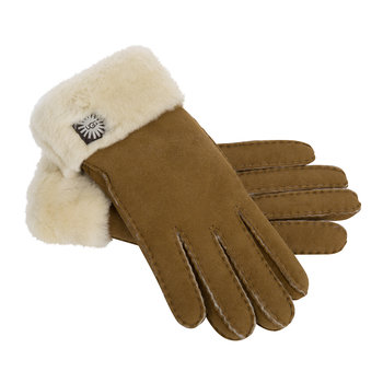 Women's Classic Sheepskin Turn Cuff Glove - Chestnut