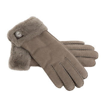 Women's Classic Sheepskin Turn Cuff Glove - Stormy Grey
