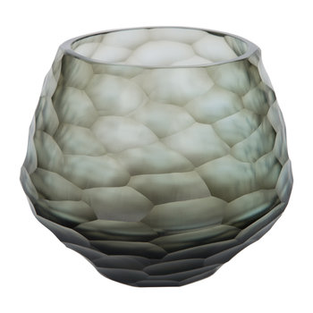 Hidcote Glass Votive - Steel Blue
