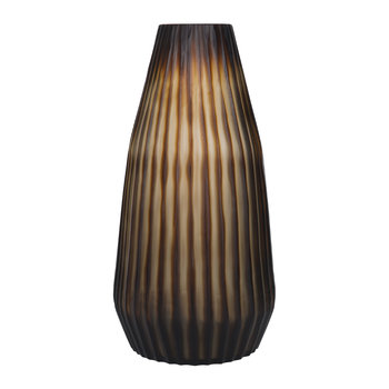 Thick Cut Vase - Chocolate