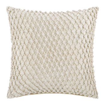 Gibberd Crochet Pillow - 45x45cm - Cream