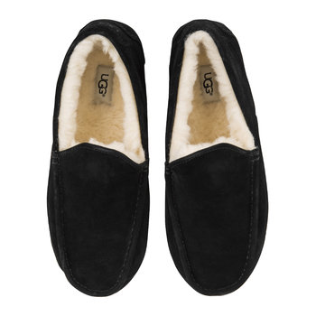 Men's Ascot Suede Slippers - Black