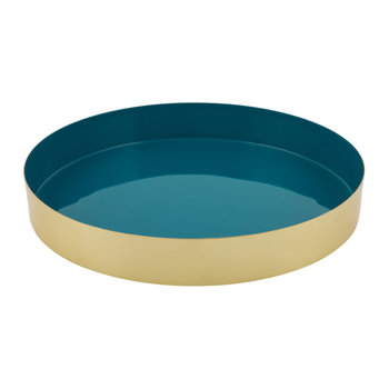 Carousel Tray - Gold/Blue